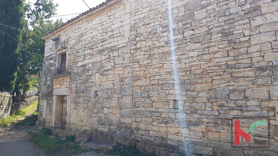 Žminj, kamnita hiša 60m2 za obnovo