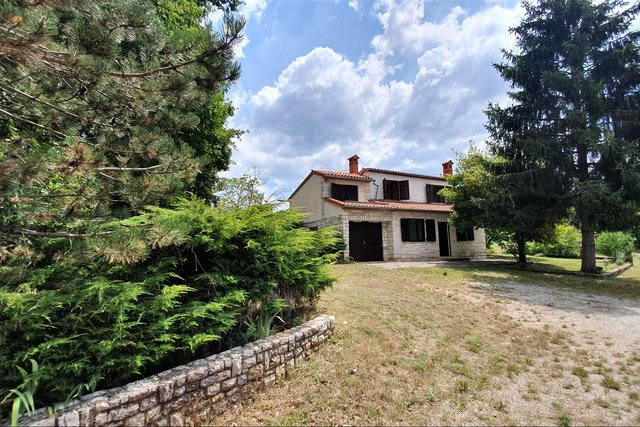 Istria - Žminj, attractive building land 13.674m2 with infrastructure + HOUSE 113M2