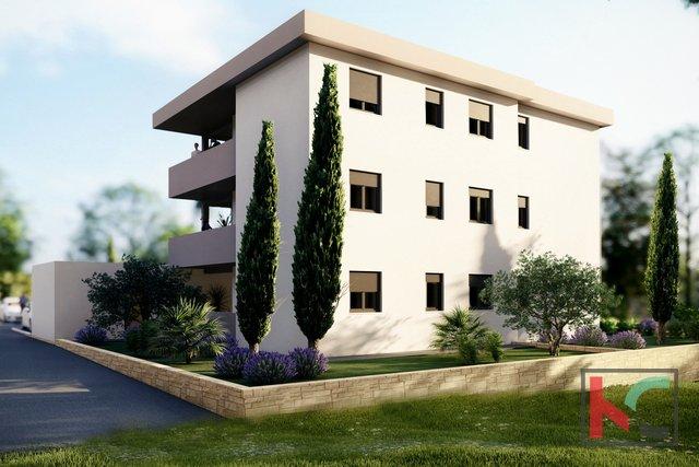 Medulin, prizemlje stan 65,81m2 s vrtom 98m2 u izgradnji