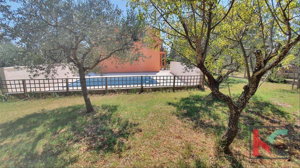 Loborika - kuća sa dva stana velikom okućnicom i bazenom 4x7m