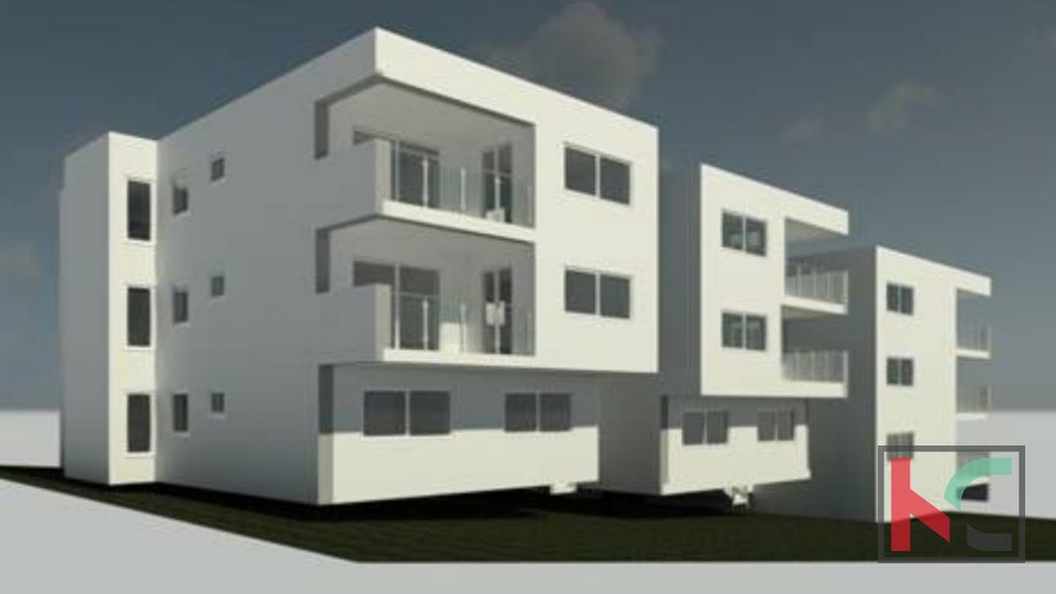 Pula, Center, five bedroom apartment 116.26 m2 in a luxury new building