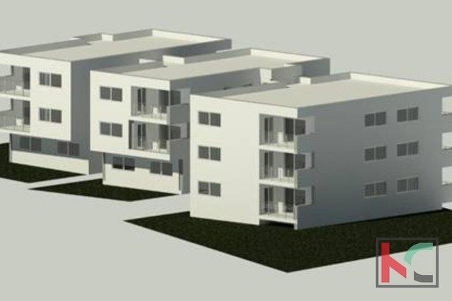 Pula, Center, Apartment mit drei Schlafzimmern, 61,62 m2 in einem luxuriösen neuen Gebäude