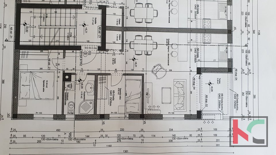 Pula, center three bedroom apartment 55m2 in a new building