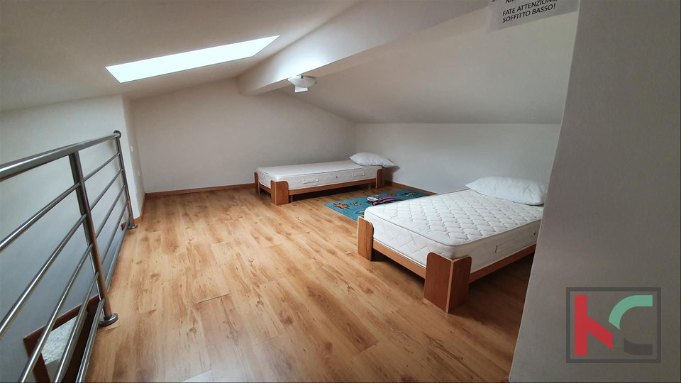 Istrien - Fazana, Maisonette-Wohnung 53,18 m2 in einem neuen Gebäude II 200 Meter vom Strand entfernt, Meerblick