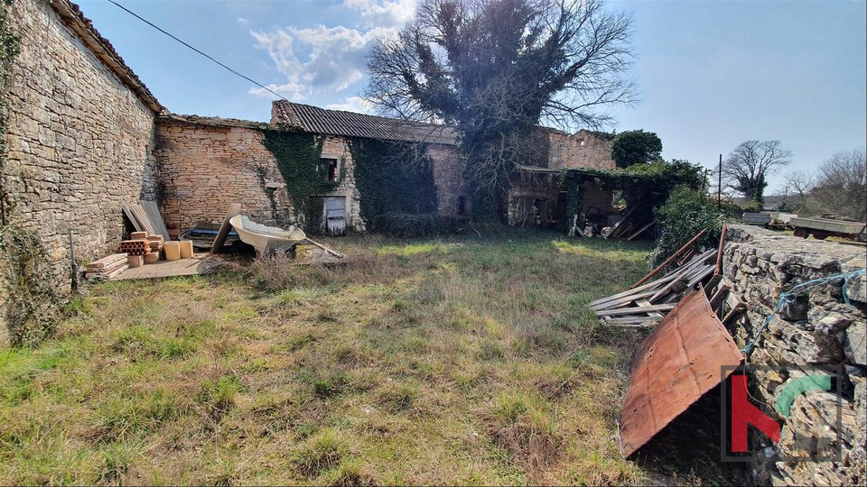 Istra - Barban, 4 stare autohtone kuće na prostranoj okućnici