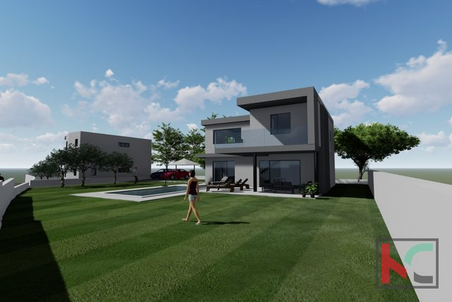 Istria, Juršići, house in a new building 194m2 on 664m2 garden, superbly equipped