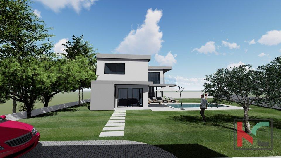Istrien, Juršići, Haus in einem neuen Gebäude 194m2 auf 664m2 Garten, hervorragend ausgestattet