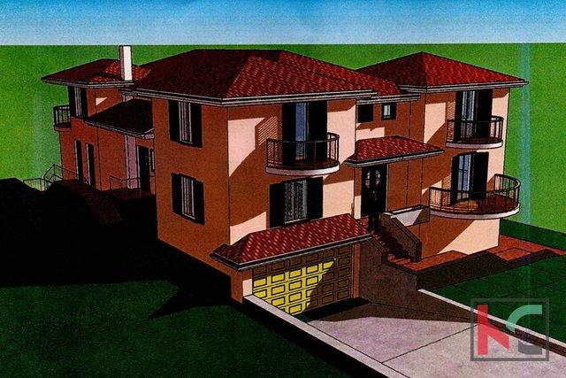Istria - Medulin, terreno edificabile 744m2 con permesso valido