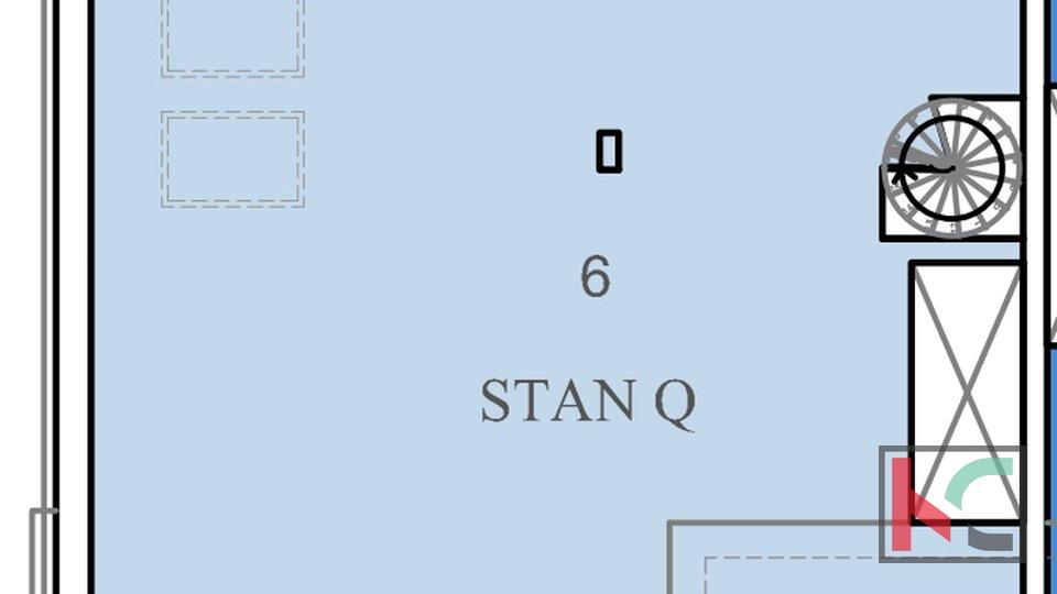 Istra, Pula, Pješčana Uvala, stan u novogradnji 102,5m2 sa pogledom na more