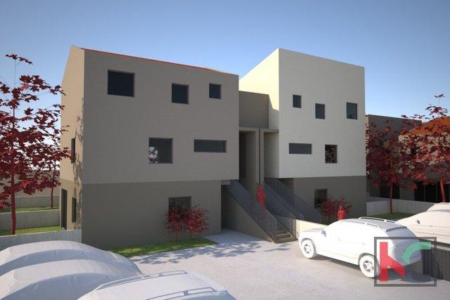 Pula, Veli Vrh, appartamento 59,10 m2 in un nuovo edificio con giardino di 35 m2