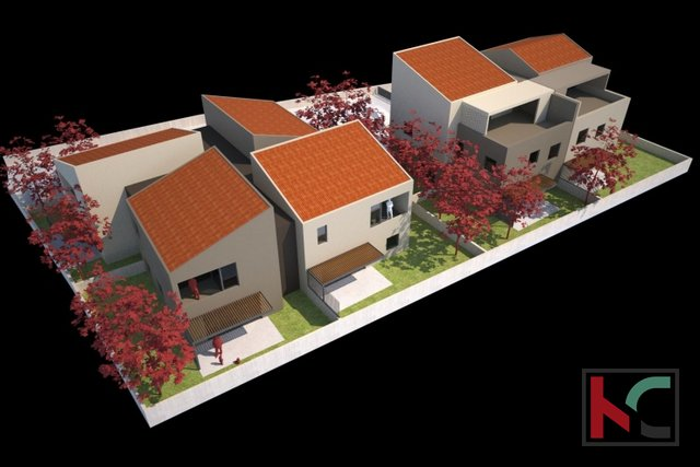 Pula, Veli Vrh, apartment 69.90 m2 in a new building with 105 m2 garden