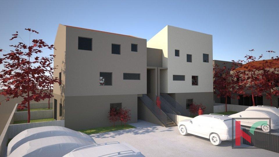 Pula, Veli Vrh, appartamento 69,90 m2 in un nuovo edificio con 105 m2 di giardino