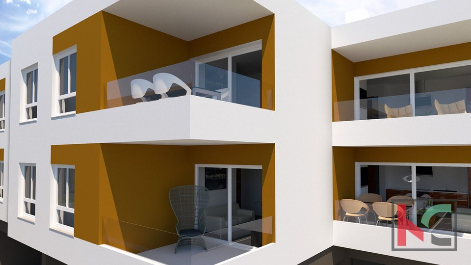 Istria, Peroj, two bedroom apartment in a new building in an attractive location