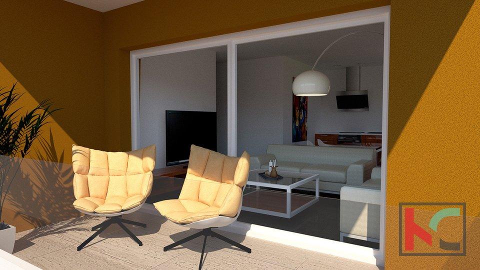 Istria, Peroj, apartment 50.63 m2 in a modern new building near Fazana