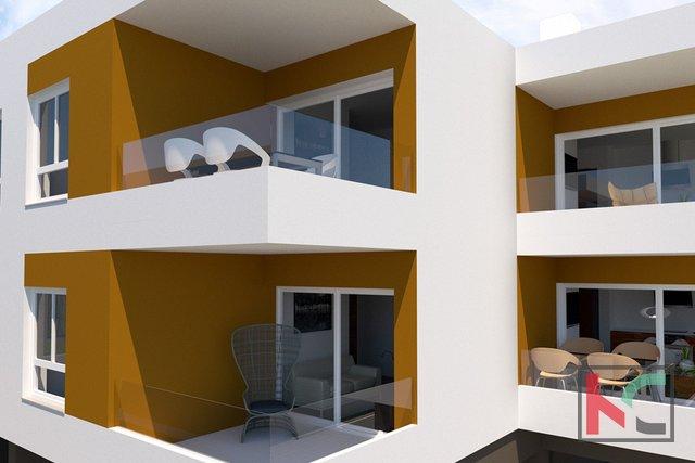 Istra, Peroj, stan 50,63m2 u modernoj novogradnji nedaleko Fažane