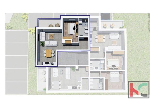 Истрия, Перой, квартира в новом доме в привлекательном месте