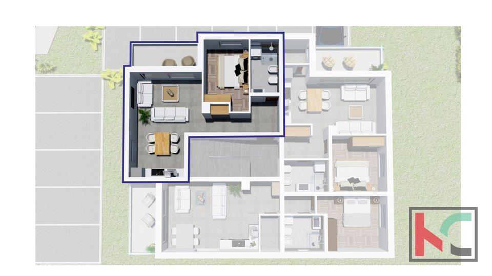 Istra, Peroj, stan u novogradnji na atraktivnoj lokaciji