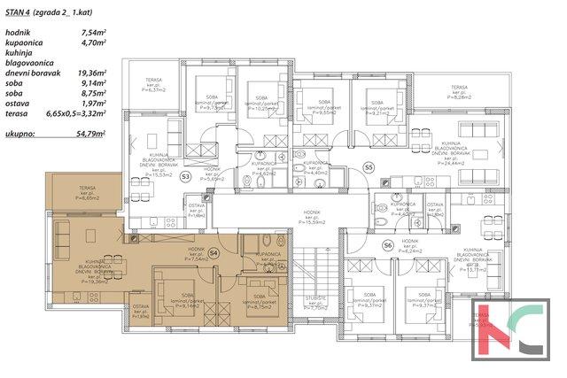 Istra, Peroj, dvosoban stan u novogradnji na atraktivnoj lokaciji