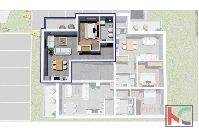 Istria, Peroj, apartment in a modern new building in an attractive location