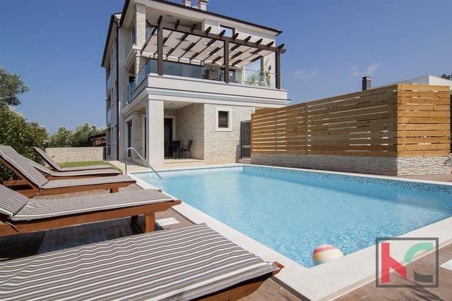 Fažana, luksuzna vila z bazenom, panoramski pogled na narodni park Brioni