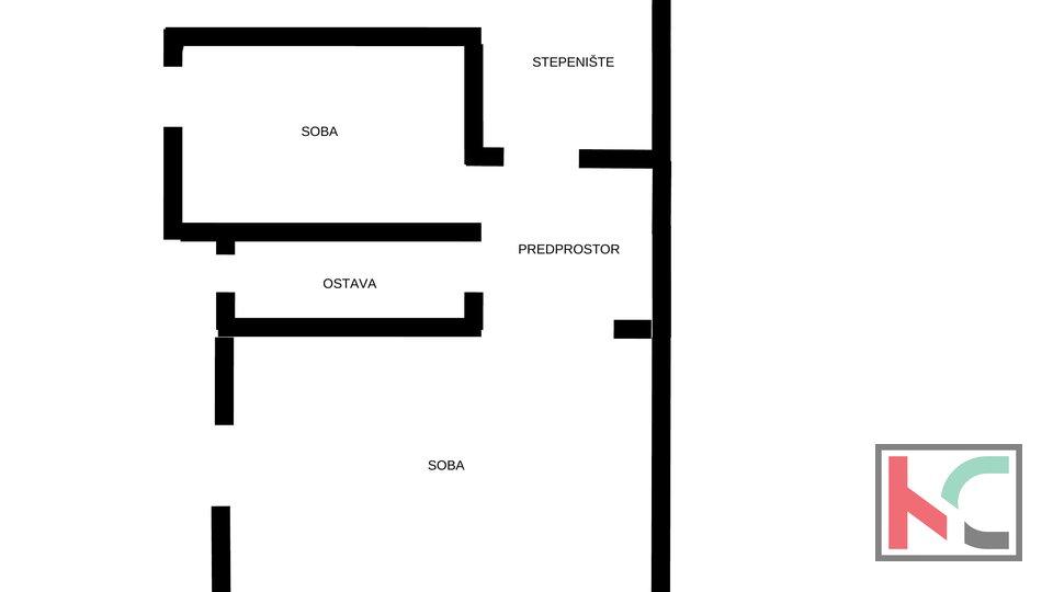 Pula, Veruda, stan 128m2 sa 222m2 okućnice i garažom