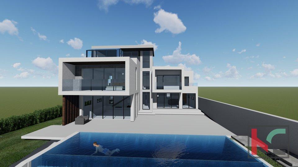 Istra - Pula, prestižna villa sa infinity bazenom u izgradnji II pogled more - Brijuni