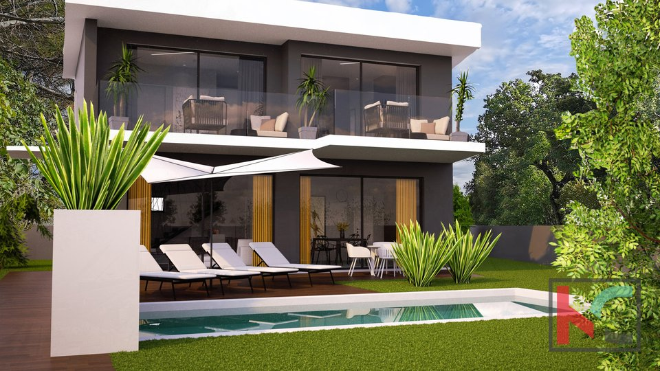 Istria, Juršići, designer villa under construction