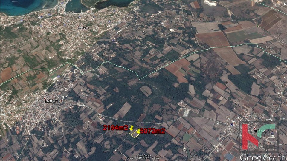 Land for sale, Ližnjan, 5072 m2 and 5 x approx 410 m2