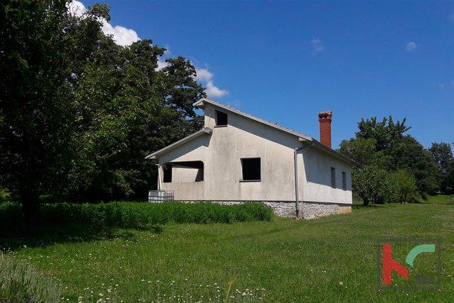 Istra, Žminj, roh-bau kuća 180m2 na okučnici od 1500m2