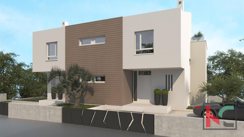 Medulin, Premantura, house with pool 170m2, distance from the sea 100m
